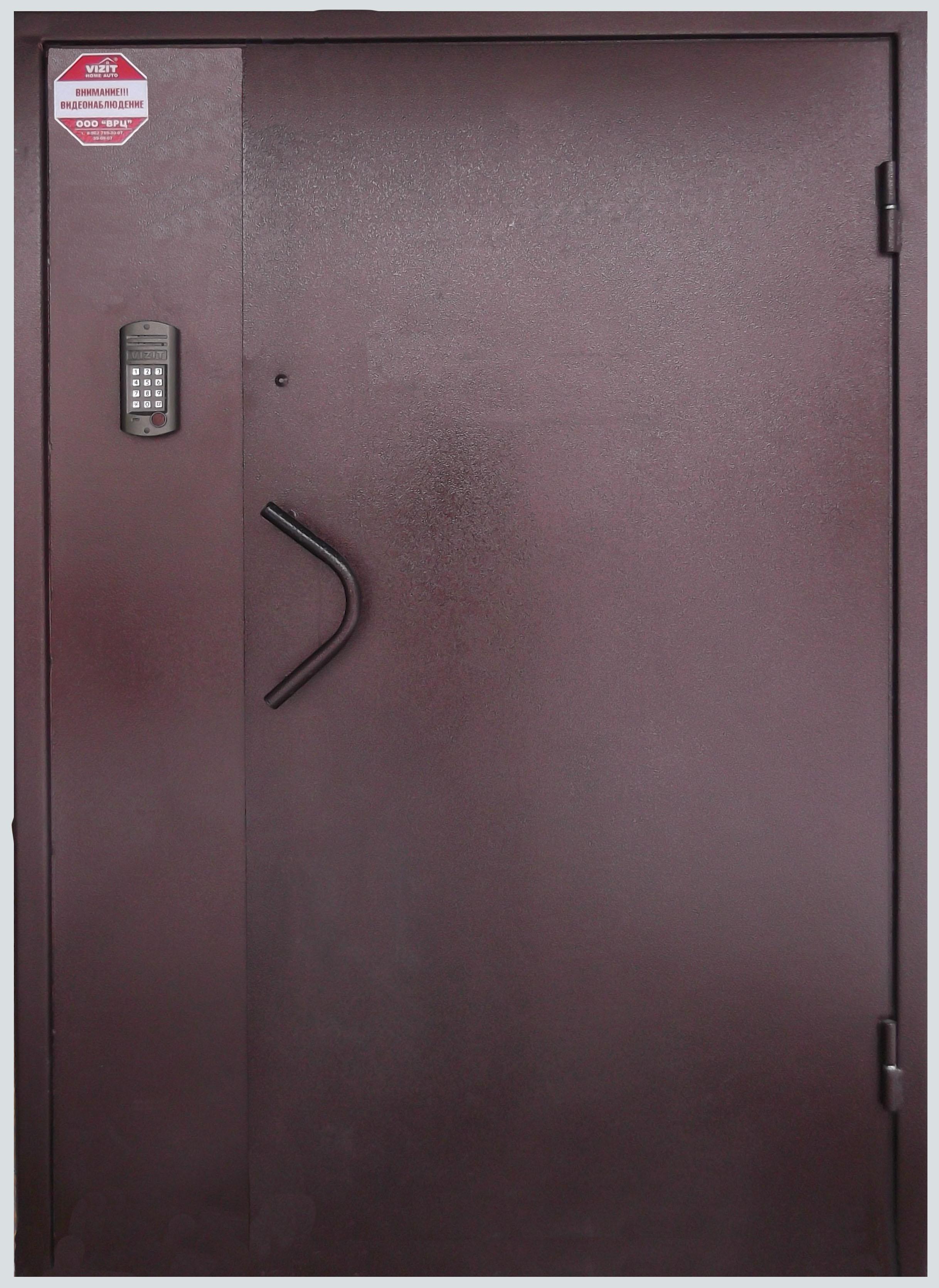 Дверь металлическая, полимерная