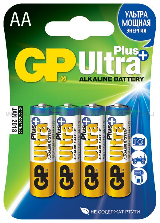 Батарейка GP Ultra Plus AA