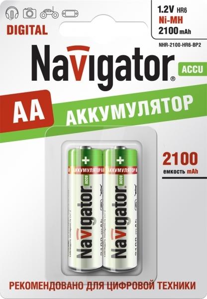 Аккумулятор Navigator АА /2100mAh/