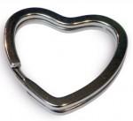 """Кольцо для крепления ключей фигурное """"сердце"""""""